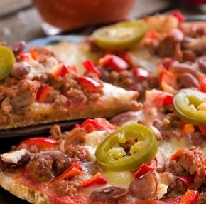 Pizza  wegańska – Chili con carne